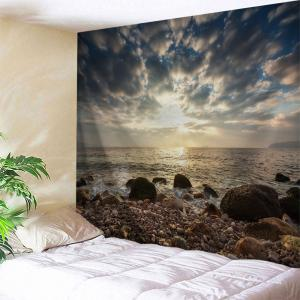 Stone Beach View Print Tapestry Wall Hanging Art Decoration