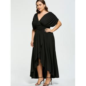 High Low Plus Size Maxi Flowy Dress -