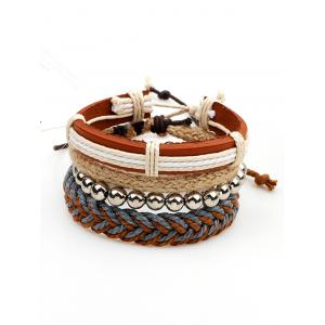 Straw Woven Rope Beaded Friendship Bracelets