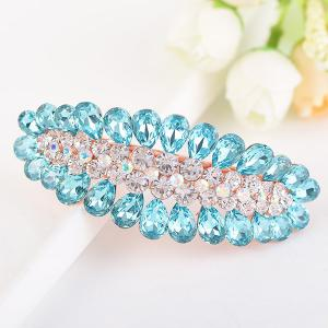 Fuax Crystal Inlaid Sea Slug Shape Barrette