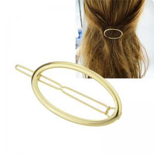 Alloy Decorative Oval Hairpin
