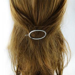 Alloy Decorative Oval Hairpin -