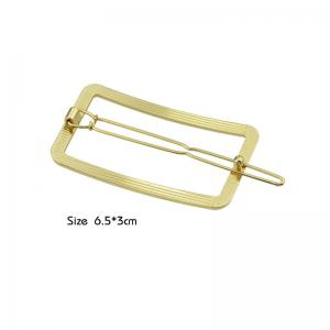 Alloy Decoration Geometric Hairpin - GOLDEN