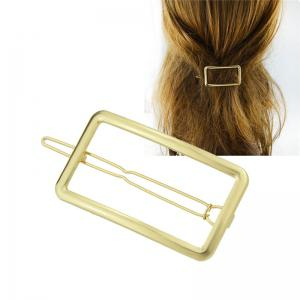 Alloy Decoration Geometric Hairpin