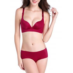 Scale Graphic Plunge Seamless Bra - Burgundy - 95b