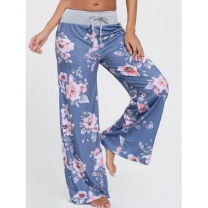 High Waist Floral Wide Leg Pants