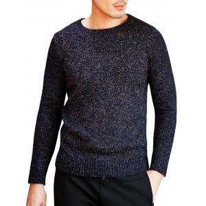 Heathered Crew Neck Pullover Sweater