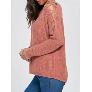 Knit Lace Up Chunky Sweater