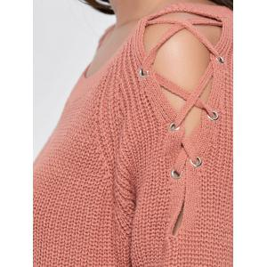 Knit Lace Up Chunky Sweater -