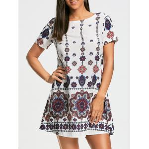 Bohemia Print Short Sleeve Tunic Dress