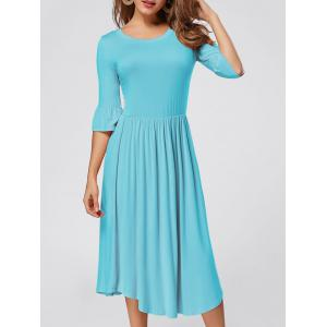 Ruffle Sleeve Jersey Midi Dress