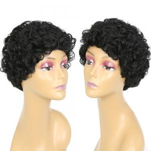 Short Side Bang Shaggy Curly Synthetic Wig
