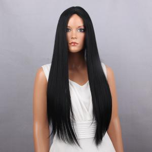 Middle Part Long Silky Straight Synthetic Wig