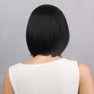Short Full Bang Bob Straight Synthetic Wig - BLACK