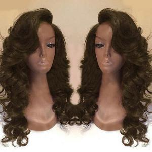 Deep Side Part Long Body Wave Synthetic Wig