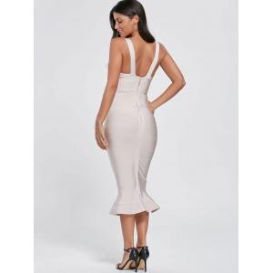 Maxi Mermaid Cut Out Bandage Dress -