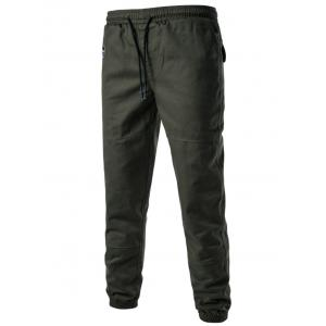 Back Pockets Drawstring Beam Feet Jogger Pants