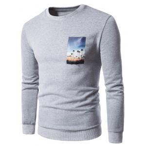 3D Graphic Print Fleece Sweatshirt