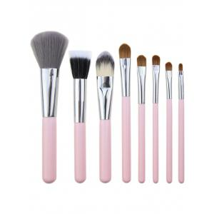 Kit de pinceaux à maquillage à usage multiple portable de 8 pcs -