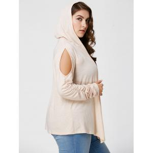 Plus Size Long Sleeve Cold Shoulder Draped Cardigan