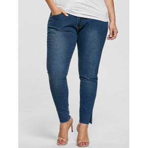 Ankle Length Skinny Plus Size Jeans