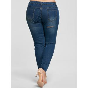 Jeans en taille mince taille taille cheville -