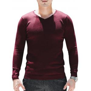 V Neck Plain Pullover Sweater
