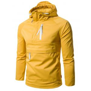 Half Zip Hooded Pullover Lightweight Jacket