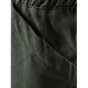 Multi Pockets Nine Minutes of Cargo Pants - ARMY GREEN M