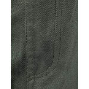 Multi Pockets Nine Minutes of Cargo Pants - ARMY GREEN L