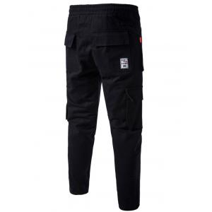 Multi Pockets Nine Minutes of Cargo Pants - BLACK XL