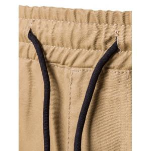 Drawstring Side Pockets Harem Pants -