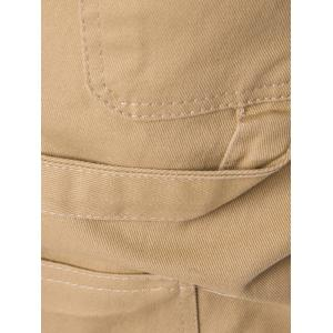 Drawstring Side Pockets Harem Pants - KHAKI 2XL
