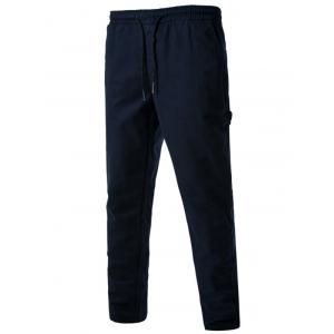 Drawstring Side Pockets Harem Pants - Cadetblue - Xl