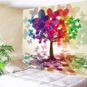 Colorful Butterfly Tree Hanging Wall Tapestry - Colorful - W59 Inch * L51 Inch
