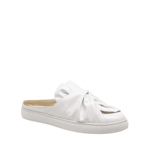 Bowknot Ruched Slip On Flats - Blanc 39