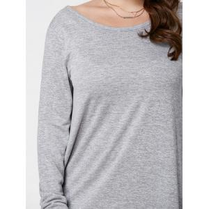 Plus Size Long Sleeve High Low Top -