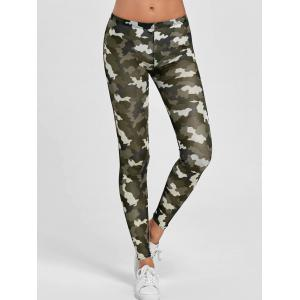Camouflage Elastic Skinny Gym Leggings