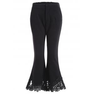 Ninth Length Lace Hem Flare Pants