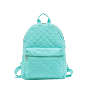 Quilted Zippers Backpack -
