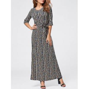 Maxi Floor Length Geometric Print Dress