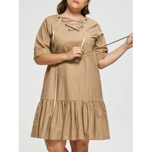 Robe taille taille à volants
