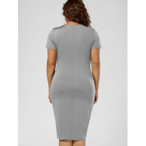 Robe Grande Taille Surplise Ajustée Surperposition -