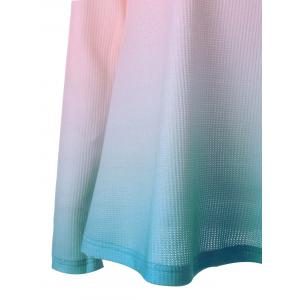 Knitted Long Sleeve Ombre T-shirt -