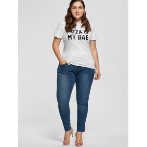 Ankle Length Skinny Plus Size Jeans -