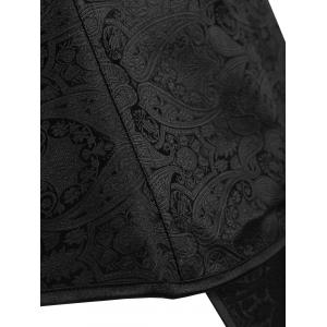 Plus Size Jacquard Paisley Lace Up Corset -