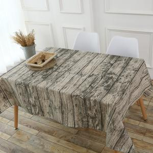 Original Wood Texture Kitchen Decor Table Cloth -