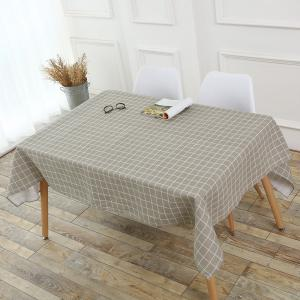 Grids Patterned Kitchen Decor Table Cloth -