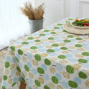 Trees Pattern Kitchen Decor Table Cloth -