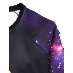 Galaxy Graphic Plus Size Long Sleeve T-shirt -
